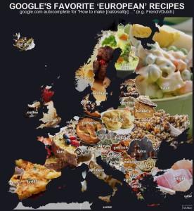 Карта кулинарных пристрастий